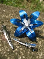 Soda Can Hair Clip - Blue by Christine-Eige