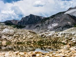 Storm Clearing Over Medicine Bow Peak by DeTea