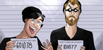 Rhett and Link: Robbers by MiaMuffins