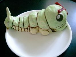 caterpie cake by VikingVal