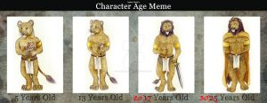Character age meme with Rex Auream by HunterBeingHunted