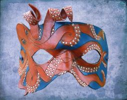 Leather Octopus Mask by ContessaEsselia