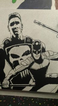 Crater City Comix Tombs WIP Punisher DD shaded by Wolfgang-Blaine