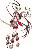 Zim OC Nia and Giga by EYDproductions