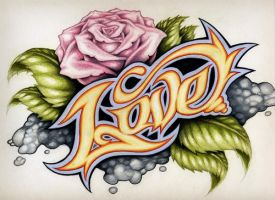 colored pencil love design by smartjuice87