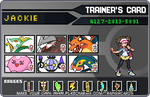 my pokemon trainercards of PKW2 by FunnyGamer95