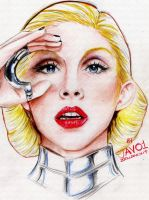 Christina aguilera - justice for Bionic by zelldinchit