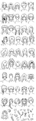 Hair Reference Page 1 by Frenehld