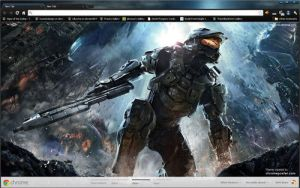 Halo 4 Google Chrome Layout by vrkm2003
