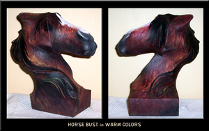 Horse Bust by Voodoo-Wolf