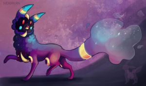 Umbreon + Cosmog Fusion by mdbruin