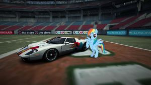 Rainbow Dash's Ford GT by NFSXMLP