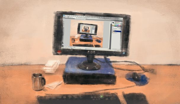 my desktop at work by jele67