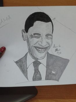 Obama by Fiona-theartist