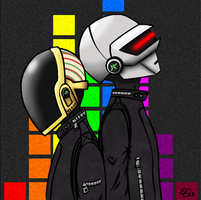 Daft Punk by Sad-Senpai
