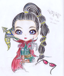 League of Legends: Vayne Chibi by iEmme