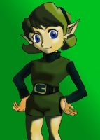 Saria from OOT Coloured by YamiSasha