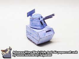 Advance Wars papercraft Black Hole Anti-Air by ninjatoespapercraft