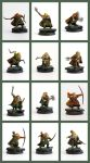 Dwarf Rangers - individual figures by Colorfulsavage