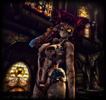 Riku 0037C -Cora at Church- Second Life by Jace-Lethecus