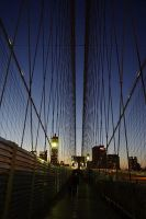 Brooklyn Bridge at Sunset by vicask