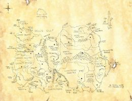 Map of Ezran by KyraShangea