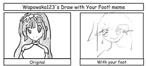 Draw With Your Foot  Meme - Lang by okamitsuki