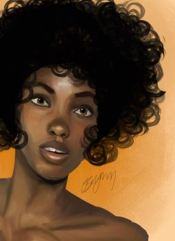Afro by artingalone