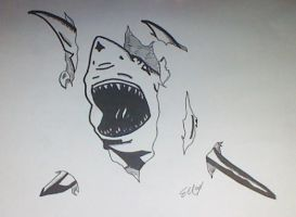 Shark Tattoo Flash by SOURSKULL