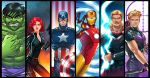 Avengers Panel Grouping by RichBernatovech