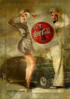 Vintage Coca-Cola AD GIRLS by Rickbw1