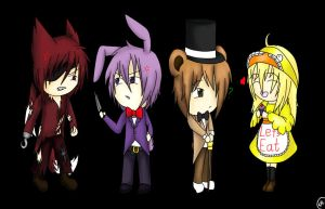 Five Nights at Freddy's CHIBIS [speedpaint] by Shinkou-san