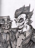 The Joker and Scareface Gray scaled by Kristov-C077X