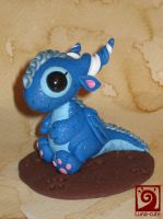 blue baby dragon by Luna-cuteXD
