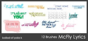 McFly Brushes by ballad-of-pola-k
