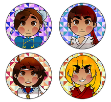 Street Fighter Buttons by CuzzaCurry