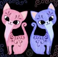 Pink and Blue by Myrret