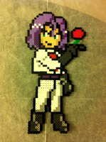 James - Team Rocket Perler Bead Sprite by flamemandala