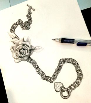 Rose and Chain Design by Lucky978