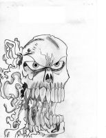 Flaming Skull by TManTRex