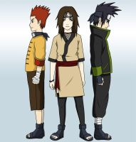 Naruto OC Team - coloured by manu-chan