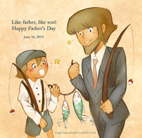 Father's Day: Luke and Clark by MagicianCelemis
