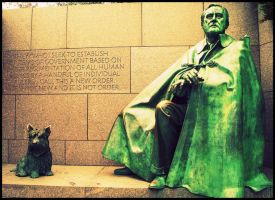 Mr. Roosevelt and His Dog by PineLakeReveries