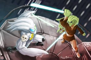 Ankhgorian vs. Kit Fisto by GavinMichelli