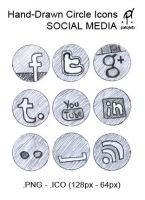 hand-drawn Social Media Icons by patojv