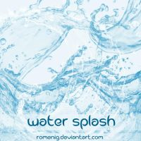 Water Splash Photoshop Brushes by Romenig