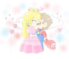 .:And finally..! They got their kiss. :. by ThePinkMarioPrincess