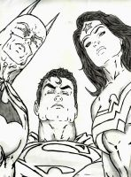 the Justice League trinity by ethaclane