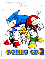 Sonic The Hedgehog CD 2 - Time Guardians Sketch by kaiserkleylson
