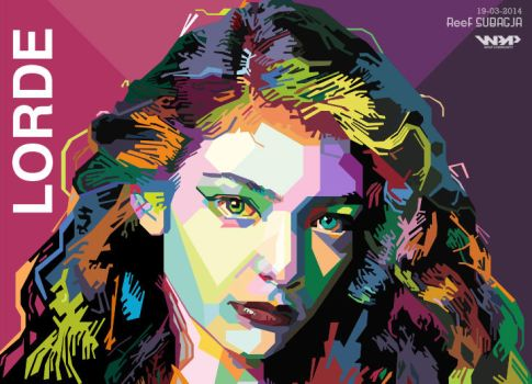 Lorde in Wedha's Pop Art Portrait by ReeFSubagja
